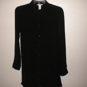 H&M Women Size 4 Black Tunic Blouse